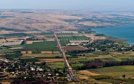 View of the Galilee in the summer . North Israel. Stock Photo - 9896320