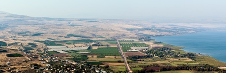 Panorama of the Galilee in the summer . North Israel. photo