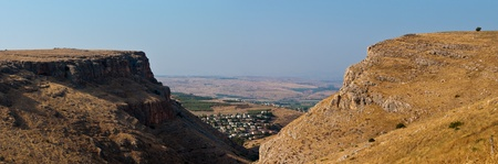 View of  ​​Galilee  through the mountains. photo
