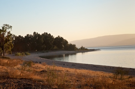 Sea of Galilee .Landscape Of North Galilee In Early winter, Israel. Stock Photo - 10390857