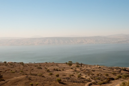 Sea of Galilee .Landscape Of North Galilee In Early winter, Israel. Stock Photo - 10390854
