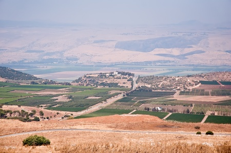 Agriculture fields . Landscape Of North Galilee , Israel.