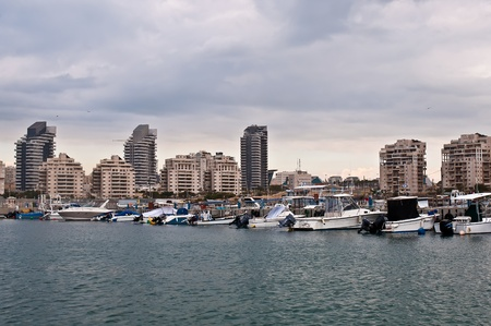 ashdod: Mediterranean Sea. Ashdod. Israel. Stock Photo