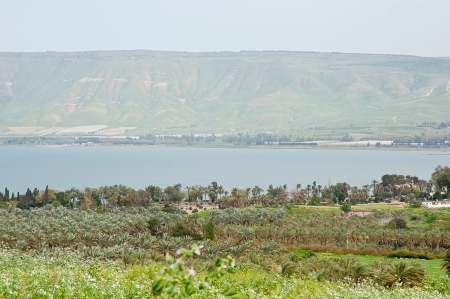 View of the sea of Galilee  Kineret lake  , Israel photo