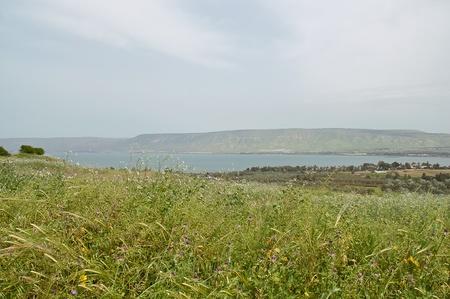 Sicht auf das Meer von Galiläa Kineret See, Israel Standard-Bild - 13725226