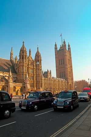 Westminster - Houses of Parliament in London and london Stock Photo