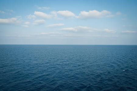mediteranean: Beautiful blue  sky and  blue sea  .