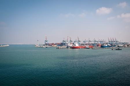Sea Port of Haifa. Israel . Panoramic view. Stock Photo - 15579063