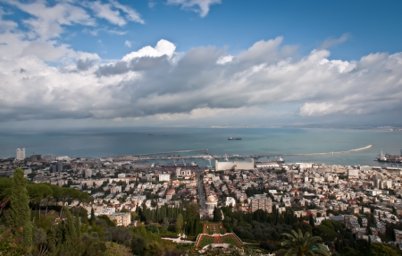 Bahai Gardens in Haifa, Israel photo