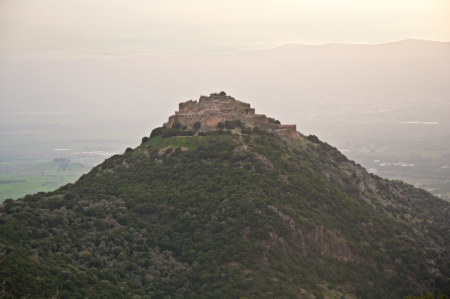 banias: Nimrod Fortress National Park - an ancient fortress located on a hill (800 m above sea level) in the Upper Galilee in the foothills of the Hermon stream Banias.