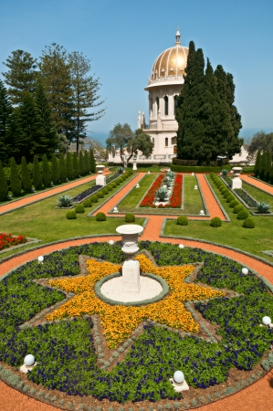 bahai: Bahai Gardens in Haifa Israel Editorial