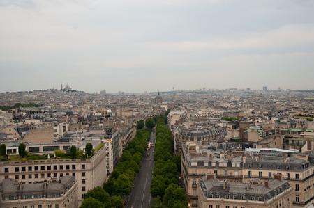 triumphe: View from the Arc de Triomphe, Paris, French