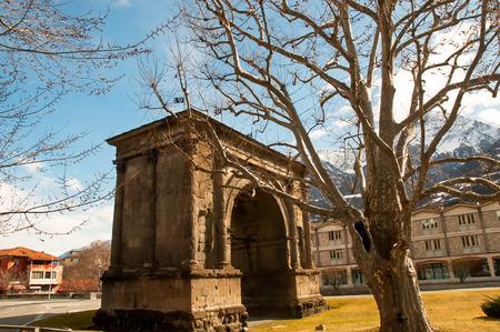 aosta: Triumphal arch of Augustus in Aosta . Itally