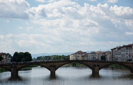arno: Old town and river Arno  at summer day, Florence, Italy