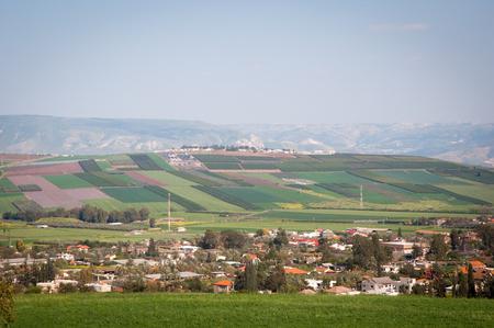 galilee: View from Galilee Mountains near Galilee Sea - Kinneret, Israel. Stock Photo