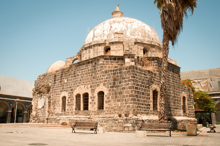 Old mosque in the historical part of Tiberias, Israel Stock Photo