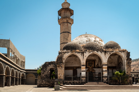 Old mosque in the historical part of Tiberias . Israel .