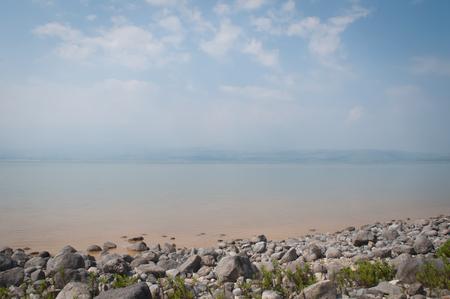 Lake Kineret near the town of Tiberias, Israel