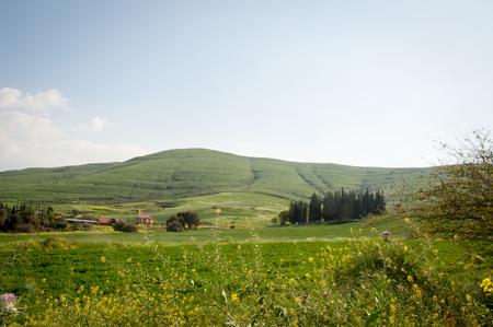 View from Galilee Mountains near Galilee Sea - Kinneret, Israel. Stock Photo