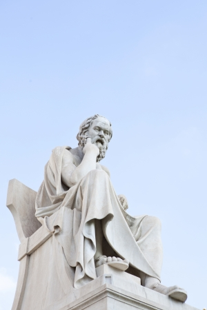 Statue of Socrates in Athens Academy photo