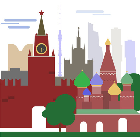 bright vectorial card moscow