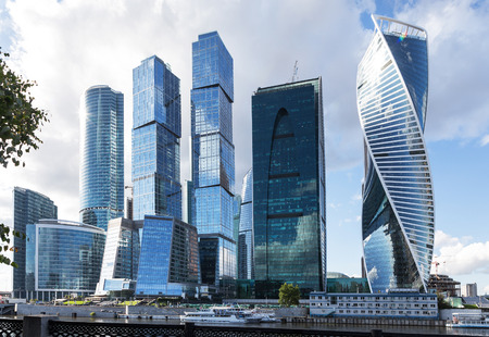moscow city: Moscow city. Summer. Sunny day. Moscow, Russia, July 6, 2015. Stock Photo