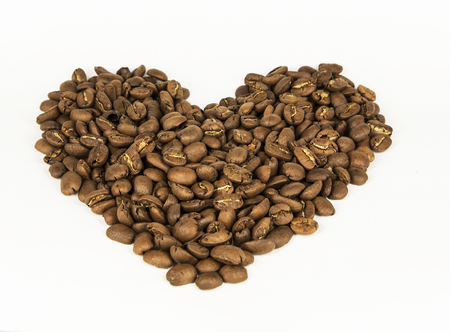 Coffee beans. White background. Isolated. Stock Photo