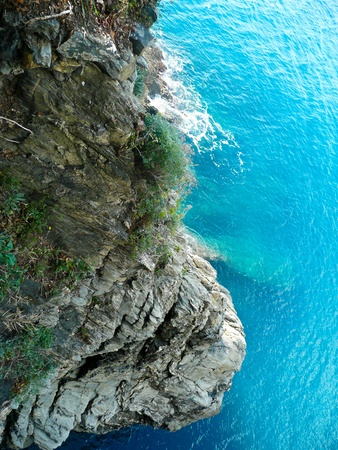 View of ocean, Cinque Terre, Italy photo