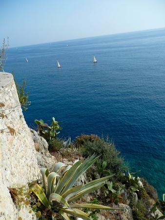 Coastline of Monaco, France photo