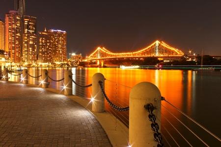 queensland: Story Bridge at night, Brisbane Stock Photo