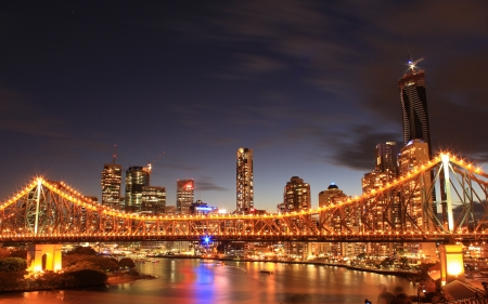 australia: Story Bridge, Brisbane Stock Photo