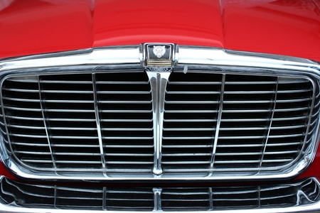Grill of a classic car