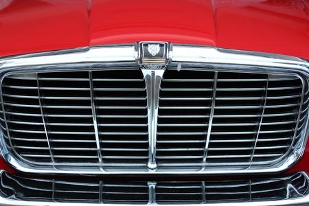 car grill: Grill of a classic car