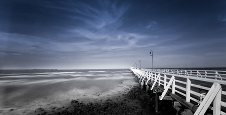 seaview: Shorncliffe PIer Stock Photo