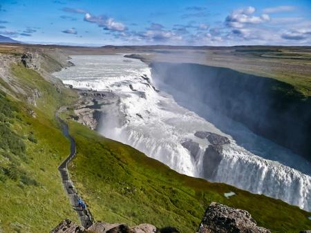 chasm: Gulfoss Waterfalls in Iceland