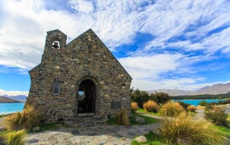 good shepherd: Church of the Good Shepherd, New Zealand Stock Photo