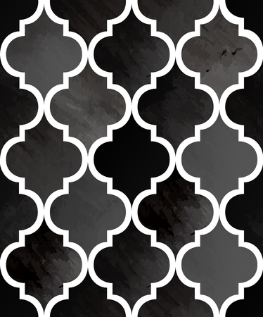 Tony watercolor abstract seamless texture. Modern stylish vector pattern. Repeating background. Black and white painting textured backdrop.