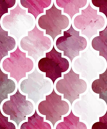 Tony watercolor abstract seamless texture. Modern stylish vector pattern. Repeating background. Pink and white painting textured backdrop. Ilustrace