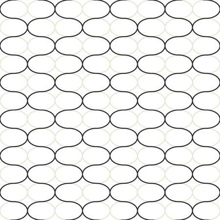 Abstract geometric seamless vector pattern. Trendy textile or interior wallpaper repeatable texture. Tony natural light beige and dark grey color shades. Waves shapes background.