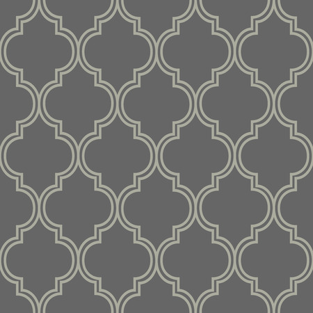 dark beige: Abstract geometric seamless vector pattern. Trendy textile or interior wallpaper repeatable texture. Tony natural light beige and dark grey color shades. Arches or console shapes background. Illustration