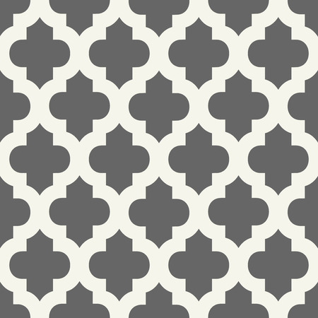 arches: Abstract geometric seamless vector pattern. Trendy textile or interior wallpaper repeatable texture. Tony natural light beige and dark grey color shades. Arches or console shapes background. Illustration