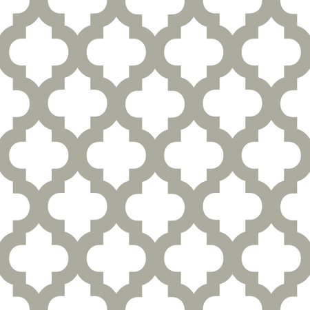 repeatable texture: Abstract geometric seamless vector pattern. Trendy textile or interior wallpaper repeatable texture. Tony natural light beige and dark grey color shades. Arches or console shapes background. Illustration
