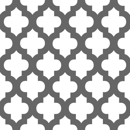 Abstract geometric seamless vector pattern. Trendy textile or interior wallpaper repeatable texture. Tony natural light beige and dark grey color shades. Arches or console shapes background. Ilustrace