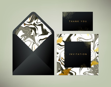 sienna: Envelope, invitation and thank you cards templates