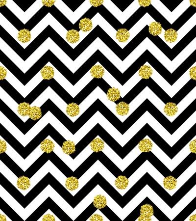 trendy: Trendy glittering gold seamless polka dot pattern
