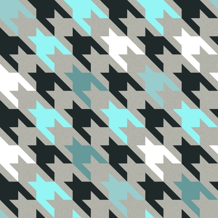 hounds: English tweed seamless texture in white, cold grey and blue colors. Hounds tooth pattern with warm wool fabric effect.