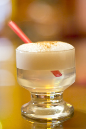 Peruvian national drink Pisco sour photo