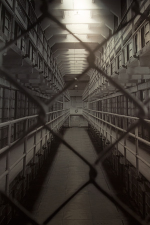 penitentiary: Inside the cellblock in former Alcatraz Penitentiary