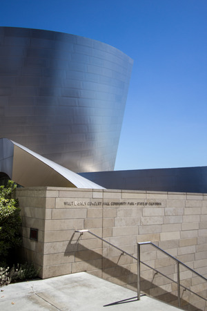 frank   gehry: LOS ANGELES - SEPTEMBER 9, 2014: The Walt Disney Concert Hall, designed by Frank Gehry. September 9, 2014 in Los Angeles