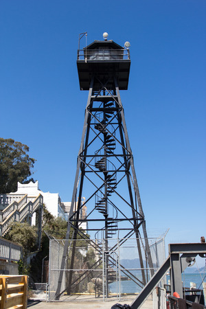 alcatraz: The military tower on Alcatraz Island